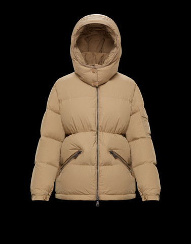 BADYMORE Light brown Short Down Jackets Woman