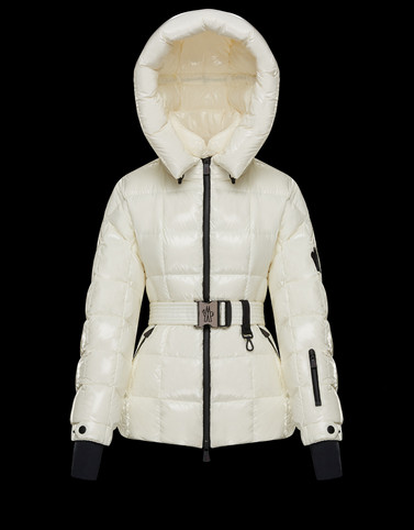 SALLE White Grenoble Down Jackets and Gilets Woman