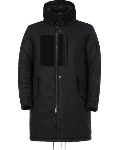 STONE ISLAND SHADOW PROJECT 704B3 FISHTAIL PARKA  VESTE LONGUE  Homme Noir EUR 1299