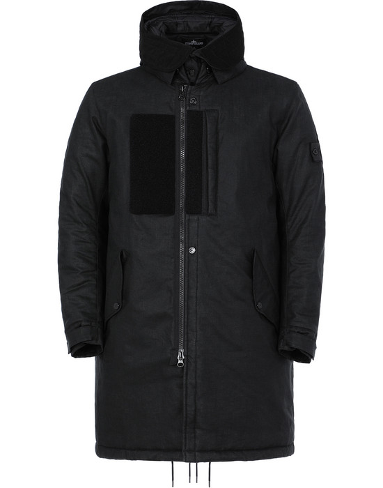 STONE ISLAND SHADOW PROJECT 704B3 FISHTAIL PARKA  LONG JACKET Man Black