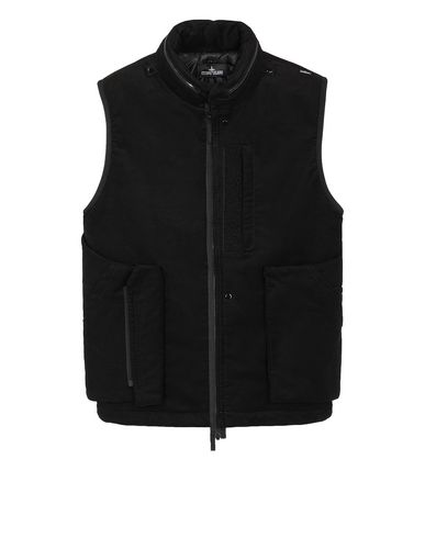 STONE ISLAND SHADOW PROJECT G01B2 FRAG COLLAR VEST   Waistcoat Man Black EUR 780