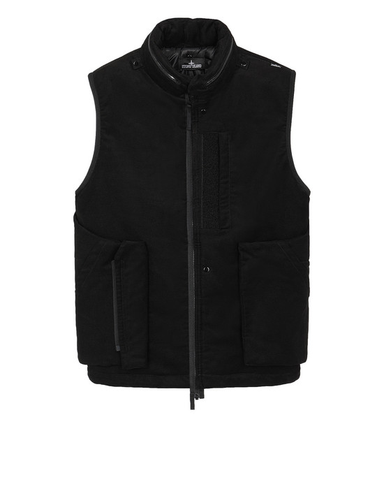 STONE ISLAND SHADOW PROJECT G01B2 FRAG COLLAR VEST   Waistcoat Man Black