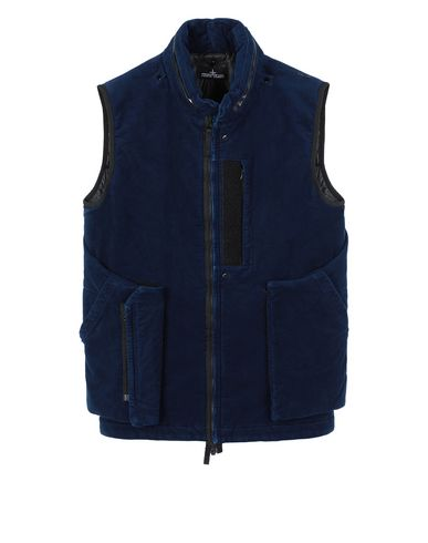 STONE ISLAND SHADOW PROJECT G01I2 FRAG COLLAR VEST   Waistcoat Man Dark blue EUR 815