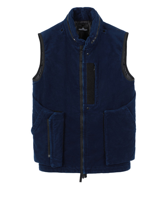 STONE ISLAND SHADOW PROJECT G01I2 FRAG COLLAR VEST   Waistcoat Man Dark blue