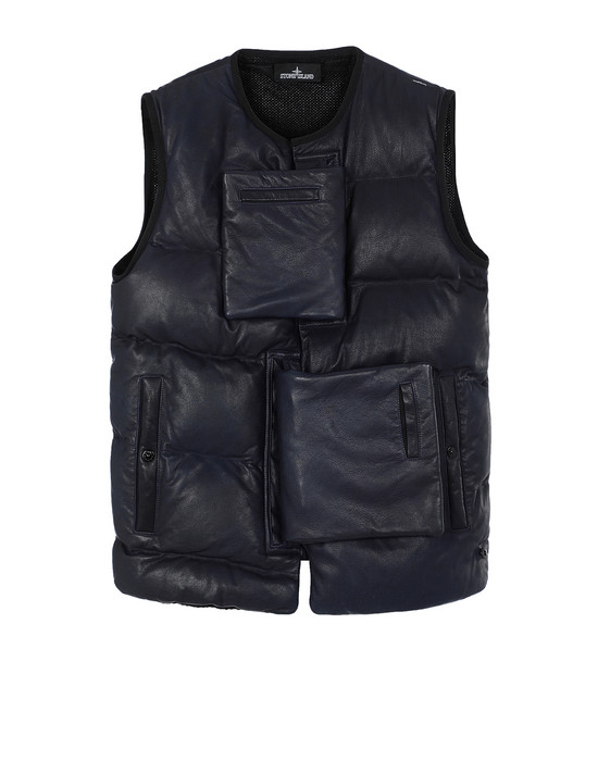 STONE ISLAND SHADOW PROJECT 002IL ENCASE PANEL DOWN VEST Waistcoat Man Dark blue