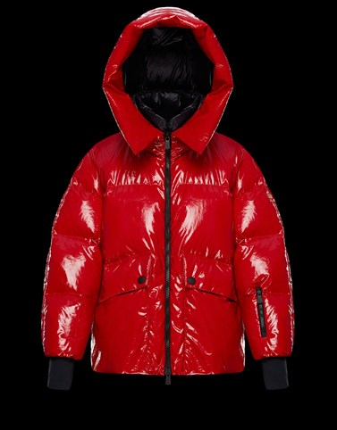 TILLIER Red Grenoble Down Jackets and Gilets Woman