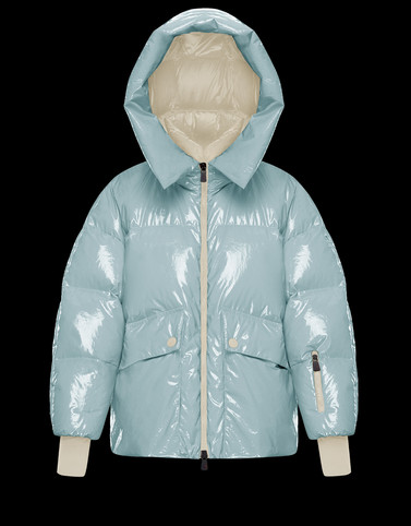 TILLIER Sky blue Category Short outerwear Woman