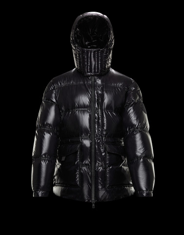 TETHYS Black Long Down Jackets Man