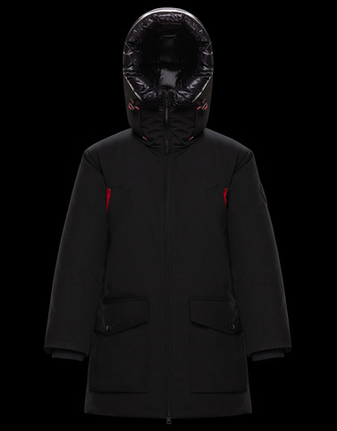 THEMISTO Black Long Down Jackets Man