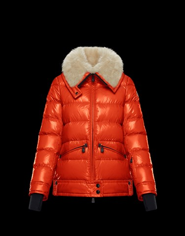 ARABBA Red Grenoble Down Jackets and Gilets Woman