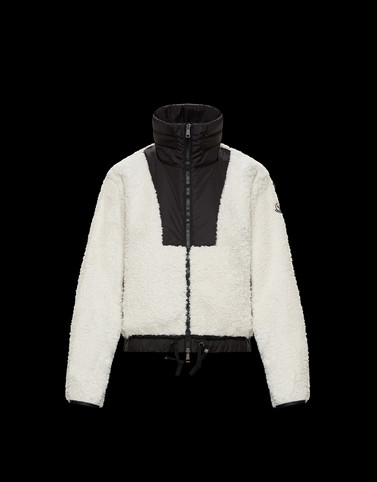 HOODED CARDIGAN White Jackets & Coats Woman