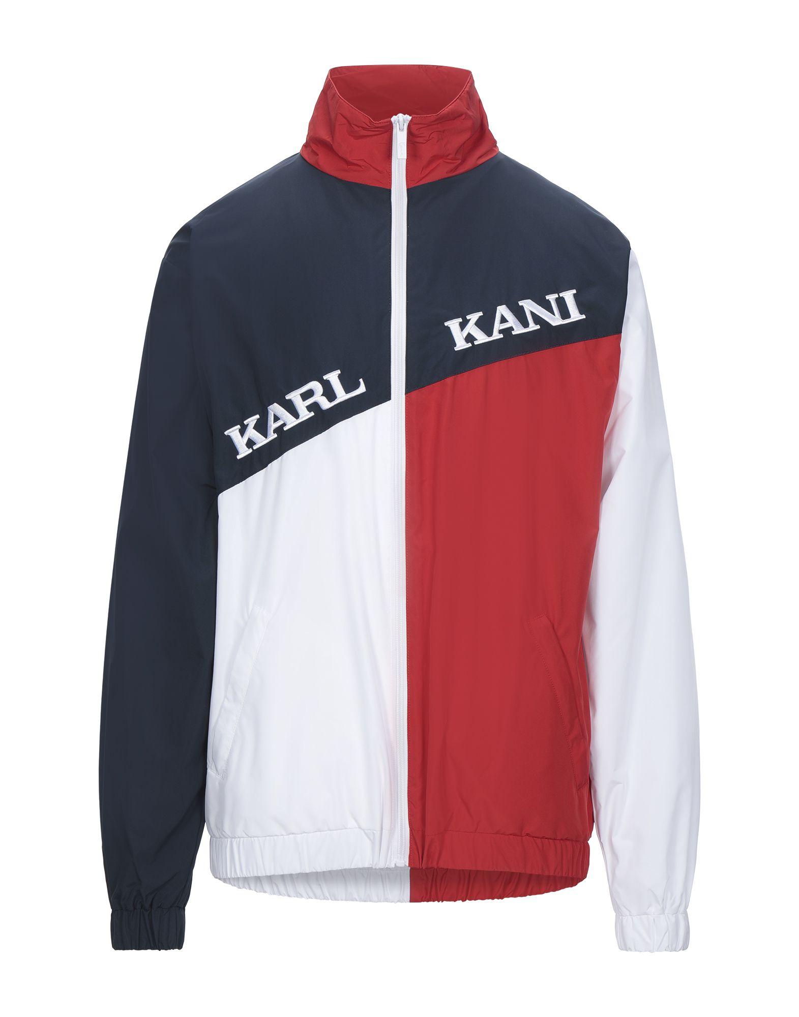 《セール開催中》KARL KANI メンズ ブルゾン レッド XS ポリエステル 100%