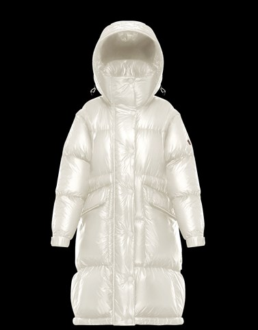 ENTREVES Ivory Grenoble Down Jackets and Gilets Woman