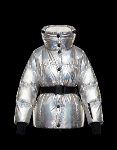 OLLIGNAN Silver Grenoble Down Jackets and Gilets Woman