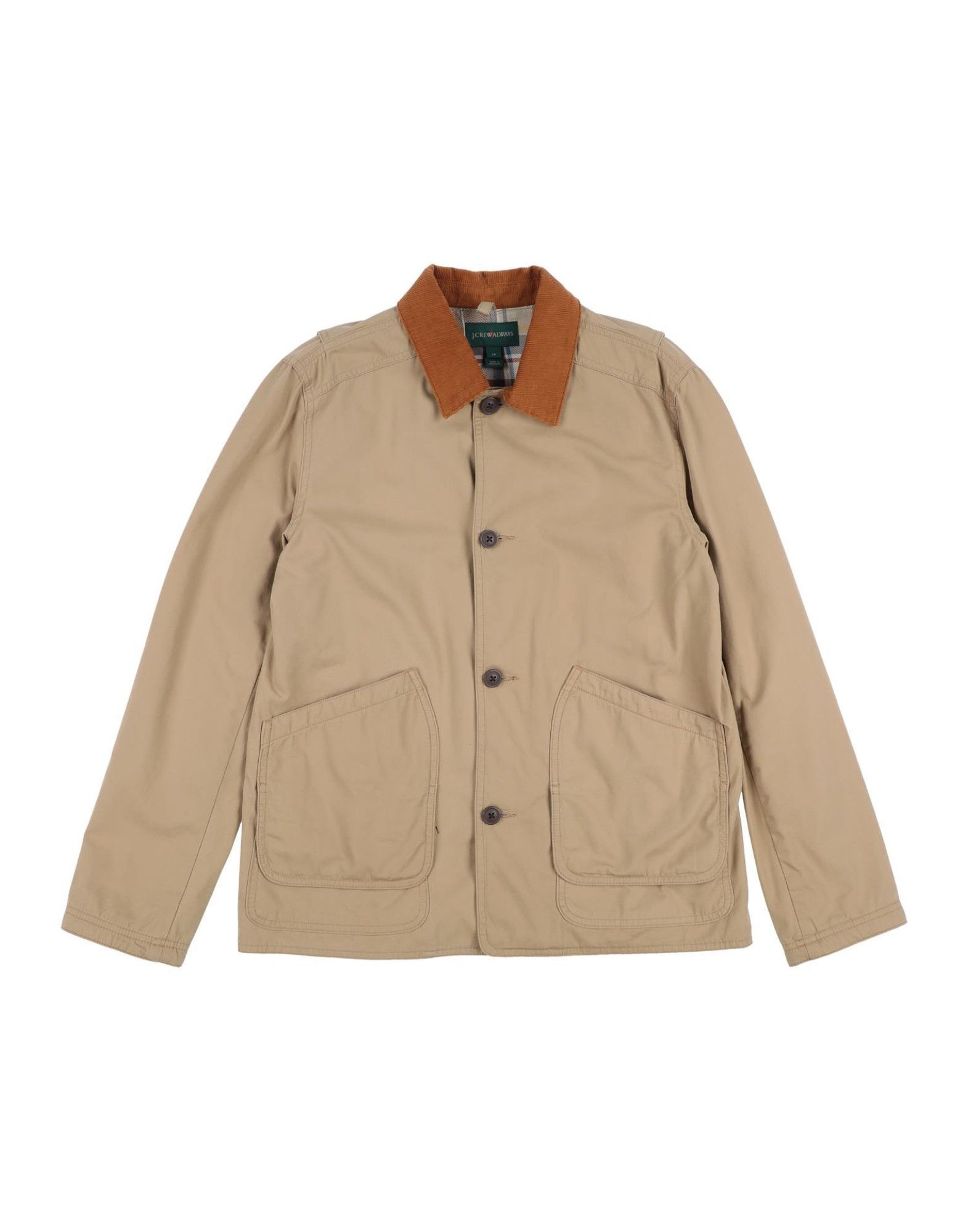J.CREW Jackets. velvet, plain weave, no appliqués, solid color, button closing, single-breasted, classic neckline, multipockets, long sleeves, fully lined, wash at 30degree c, do not dry clean, iron at 150degree c max, do not bleach, tumble dryable. 100% Cotton