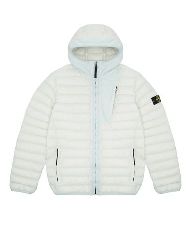 STONE ISLAND TEEN 40132 LOOM WOVEN DOWN CHAMBERS STRETCH NYLON-TC Jacket Man Aqua EUR 525