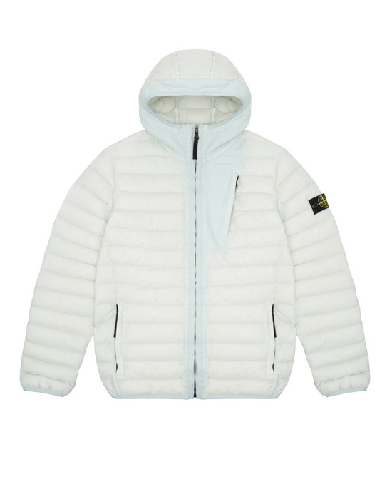 Jacket Man 40132 LOOM WOVEN DOWN CHAMBERS STRETCH NYLON-TC Front STONE ISLAND TEEN