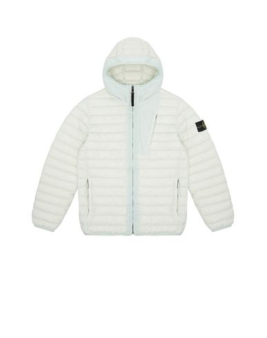 STONE ISLAND JUNIOR 40132 LOOM WOVEN DOWN CHAMBERS STRETCH NYLON-TC Blouson Homme Aqua EUR 489