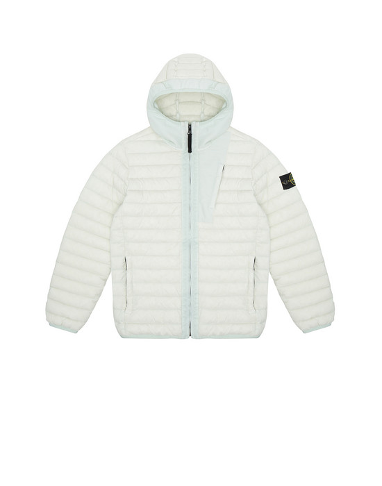 Jacket Man 40132 LOOM WOVEN DOWN CHAMBERS STRETCH NYLON-TC Front STONE ISLAND JUNIOR