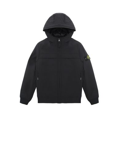STONE ISLAND JUNIOR 40531 SOFT SHELL-R WITH PRIMALOFT® INSULATION TECHNOLOGY.  Blouson Homme Noir EUR 374