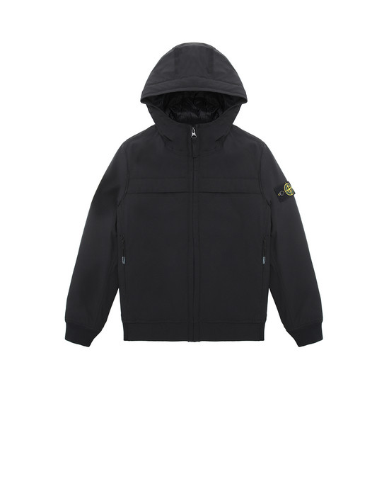 STONE ISLAND JUNIOR 40531 SOFT SHELL-R WITH PRIMALOFT® INSULATION TECHNOLOGY.  Jacket Man Black