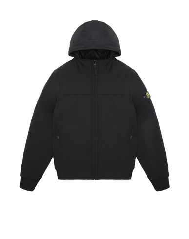 STONE ISLAND TEEN 40531 SOFT SHELL-R WITH PRIMALOFT® INSULATION TECHNOLOGY.  Jacket Man Black EUR 419