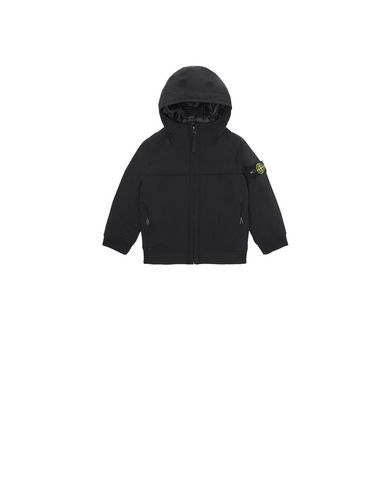 STONE ISLAND BABY 40531 SOFT SHELL-R WITH PRIMALOFT® INSULATION TECHNOLOGY.  Jacket Man Black EUR 303