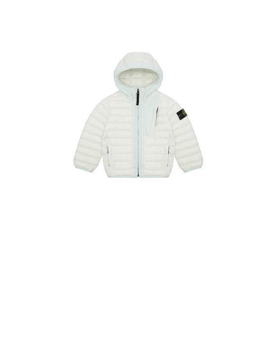 Jacket Man 40132 LOOM WOVEN DOWN CHAMBERS STRETCH NYLON-TC Front STONE ISLAND BABY