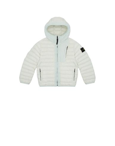 STONE ISLAND KIDS 40132 LOOM WOVEN DOWN CHAMBERS STRETCH NYLON-TC Jacket Man Aqua USD 297