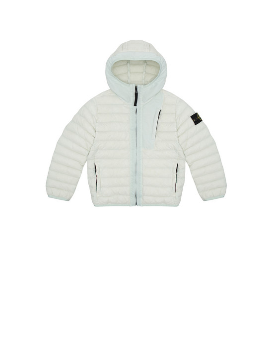 STONE ISLAND KIDS 40132 LOOM WOVEN DOWN CHAMBERS STRETCH NYLON-TC Jacket Man Aqua