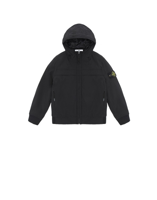 STONE ISLAND JUNIOR 40531 SOFT SHELL-R WITH PRIMALOFT® INSULATION TECHNOLOGY.  Blouson Homme Noir