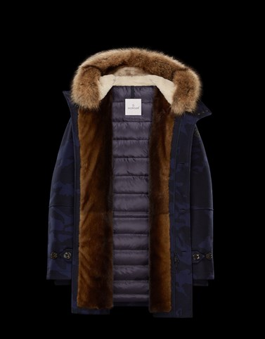 MINAOUET Dark blue Long Down Jackets Man