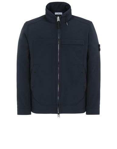 STONE ISLAND Q0222 SOFT SHELL-R LIGHTWEIGHT JACKET Man Blue USD 461