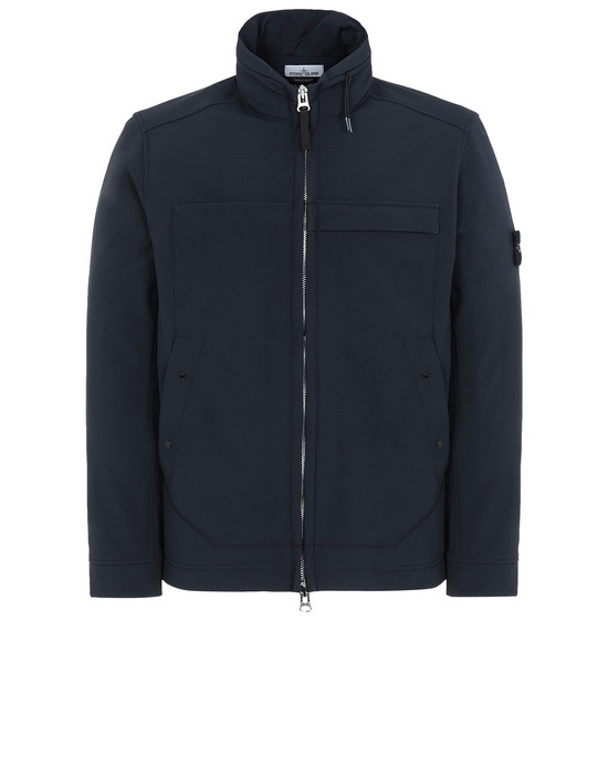 STONE ISLAND Q0222 SOFT SHELL-R LIGHTWEIGHT JACKET Man Blue