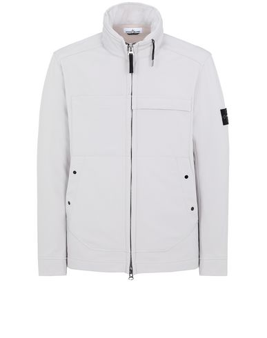 STONE ISLAND Q0222 SOFT SHELL-R LIGHTWEIGHT JACKET Man Dove Grey EUR 515