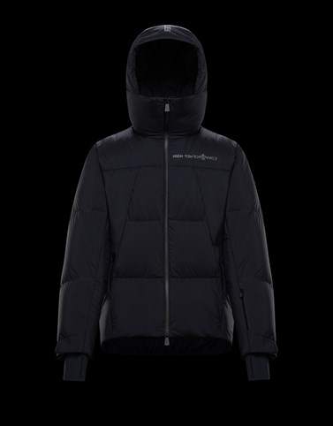 PLANAVAL Black Grenoble Jackets and Down Jackets Man