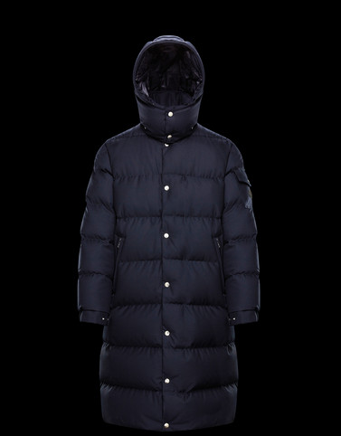 FREMA Blue Long Down Jackets Man