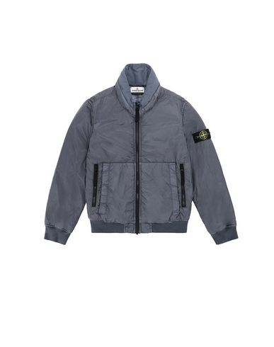 STONE ISLAND JUNIOR 40833 GARMENT DYED CRINKLE REPS NY - PRIMALOFT 캐주얼 재킷 남성 아비오 블루 KRW 639775