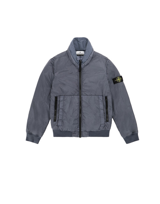 STONE ISLAND JUNIOR 40833 GARMENT DYED CRINKLE REPS NY - PRIMALOFT 캐주얼 재킷 남성 아비오 블루