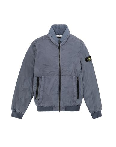 STONE ISLAND TEEN 40833 GARMENT DYED CRINKLE REPS NY - PRIMALOFT 休闲夹克 男士 空军蓝色 EUR 347