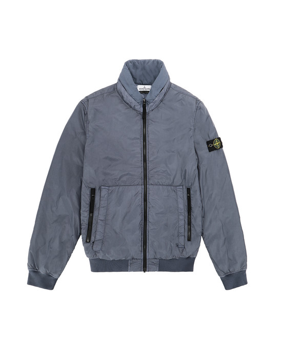 Blouson Homme 40833 GARMENT DYED CRINKLE REPS NY - PRIMALOFT Front STONE ISLAND TEEN