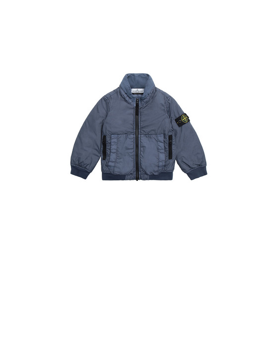 STONE ISLAND JUNIOR 40833 GARMENT DYED CRINKLE REPS NY - PRIMALOFT Cazadora Hombre Azul grisáceo