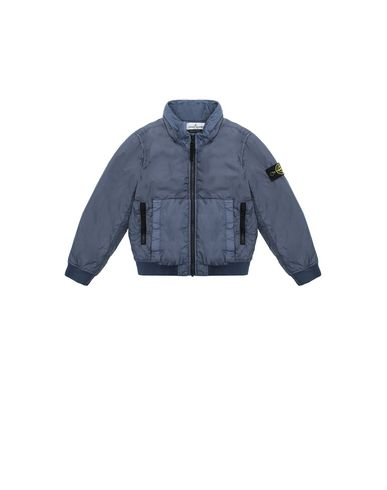 STONE ISLAND KIDS 40833 GARMENT DYED CRINKLE REPS NY - PRIMALOFT Cazadora Hombre Azul grisáceo EUR 263