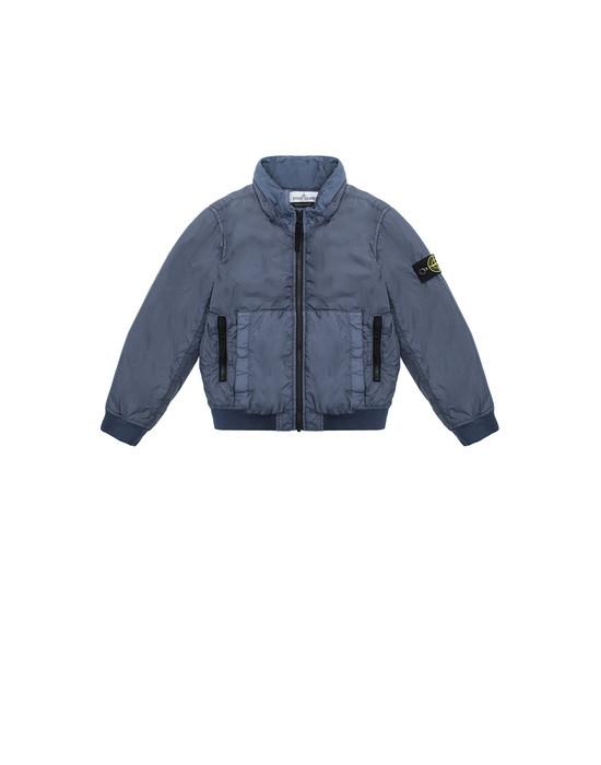 STONE ISLAND KIDS 40833 GARMENT DYED CRINKLE REPS NY - PRIMALOFT Jacket Man Avio Blue