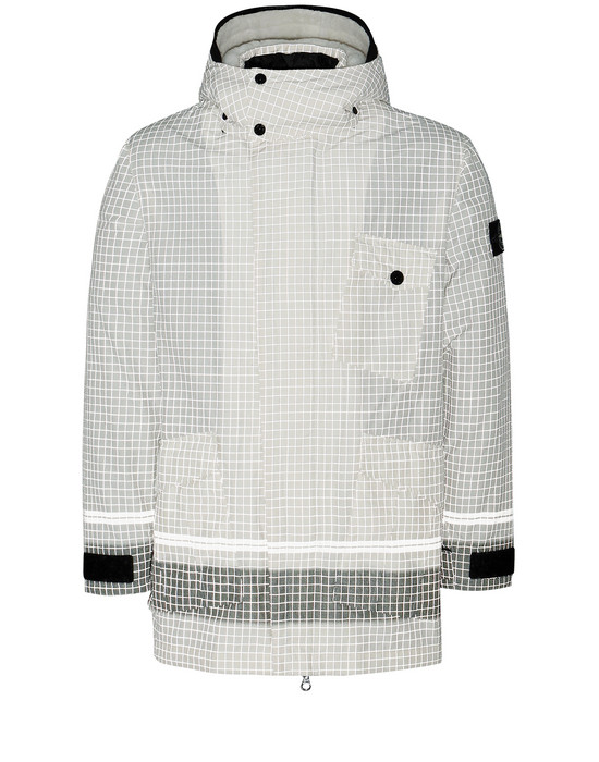 STONE ISLAND 43499 REFLECTIVE RIPSTOP CHINÉ_DETACHABLE LINING Jacket Man Butter