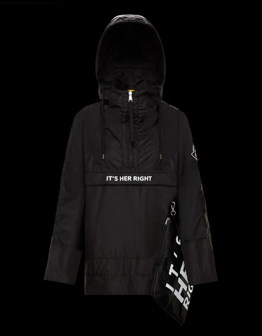 ANORAK Black 2 Moncler 1952 Woman