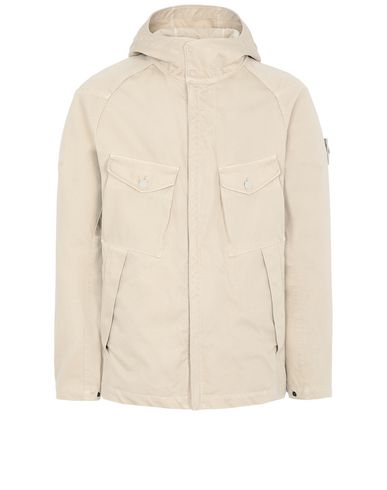 STONE ISLAND 441F1 RASO GOMMATO DOUBLE_GHOST PIECE  Jacket Man Beige USD 1137
