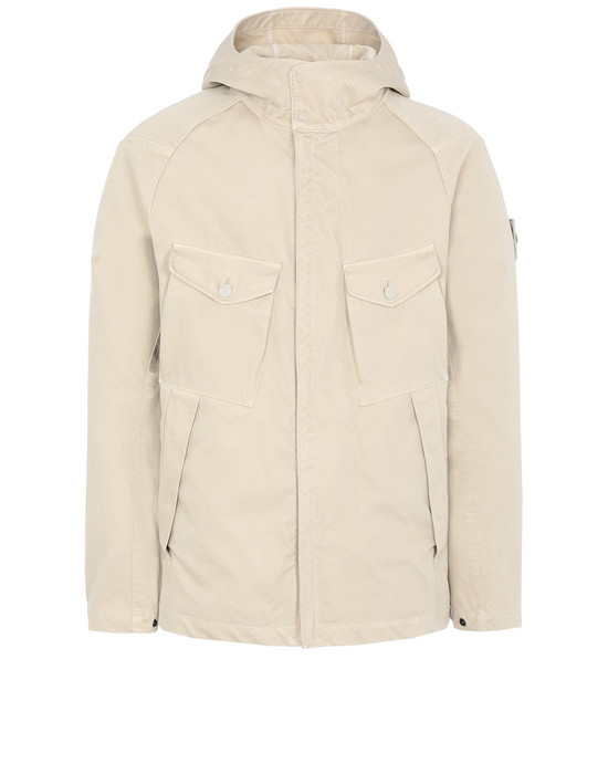Sold out - STONE ISLAND 441F1 RASO GOMMATO DOUBLE_GHOST PIECE  Jacket Man Beige