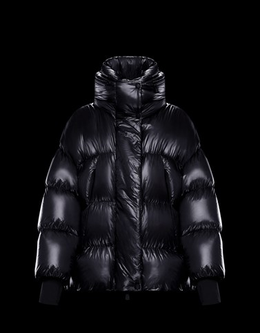 ARPUILLES Black Grenoble Down Jackets and Gilets Woman