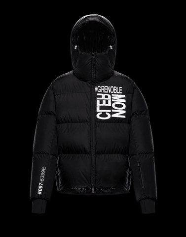 MAZOD Black Grenoble Jackets and Down Jackets Man